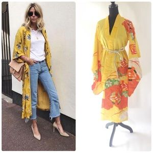 Jackets & Blazers - Vintage kimono with sequins in Yellow 👘